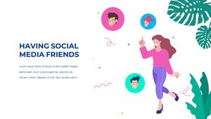 소셜미디어 모바일 컨셉 (Social Media on Mobile) 템플릿 #15
