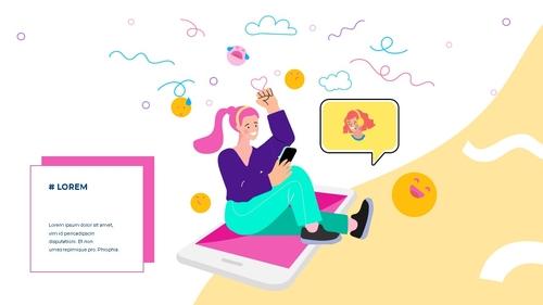 소셜미디어 모바일 컨셉 (Social Media on Mobile) 템플릿 - 섬네일 16page