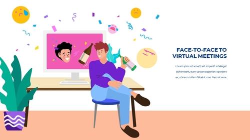 소셜미디어 모바일 컨셉 (Social Media on Mobile) 템플릿 - 섬네일 18page