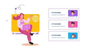 소셜미디어 모바일 컨셉 (Social Media on Mobile) 템플릿 #20