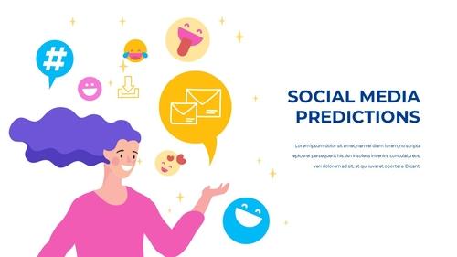 소셜미디어 모바일 컨셉 (Social Media on Mobile) 템플릿 - 섬네일 23page