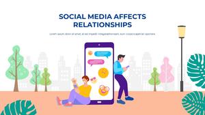 소셜미디어 모바일 컨셉 (Social Media on Mobile) 템플릿 #27