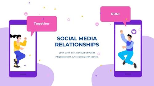 소셜미디어 모바일 컨셉 (Social Media on Mobile) 템플릿 - 섬네일 28page