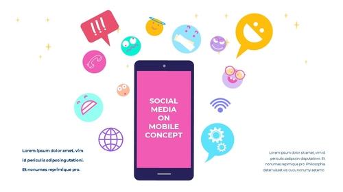 소셜미디어 모바일 컨셉 (Social Media on Mobile) 템플릿 - 섬네일 29page