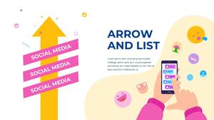 소셜미디어 모바일 컨셉 (Social Media on Mobile) 템플릿 #34