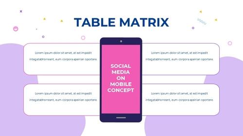 소셜미디어 모바일 컨셉 (Social Media on Mobile) 템플릿 - 섬네일 36page