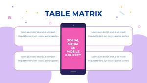 소셜미디어 모바일 컨셉 (Social Media on Mobile) 템플릿 #36
