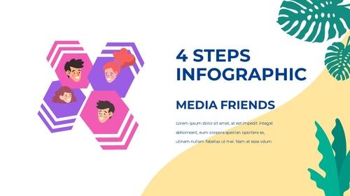 소셜미디어 모바일 컨셉 (Social Media on Mobile) 템플릿 - 섬네일 45page