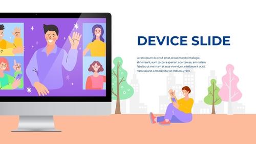 소셜미디어 모바일 컨셉 (Social Media on Mobile) 템플릿 - 섬네일 48page