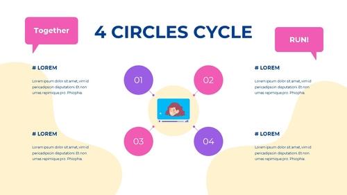 소셜미디어 모바일 컨셉 (Social Media on Mobile) 템플릿 - 섬네일 49page