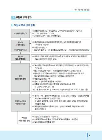 특수형태근로종사자 고용보험 적용·부과 기준 매뉴얼 - 섬네일 10page