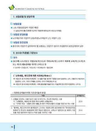 특수형태근로종사자 고용보험 적용·부과 기준 매뉴얼 - 섬네일 11page