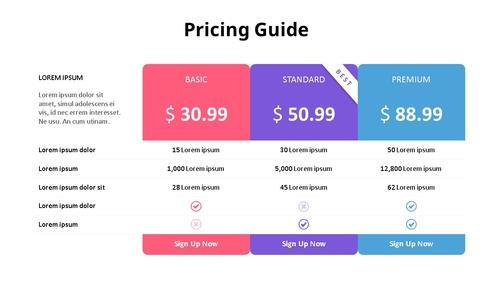 가격 책정 가이드 Diagram - 섬네일 1page