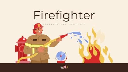 소방관 (Firefighter) 피피티 배경 thumbnail