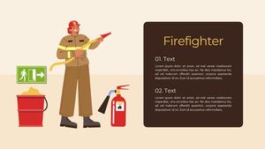 소방관 (Firefighter) 피피티 배경