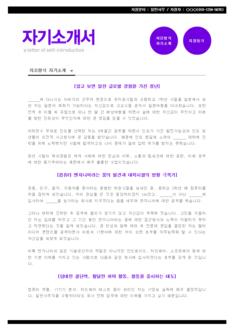 전문가 자기소개서(daum/IT/일반사무) - 경력, 남, 전문대졸