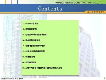 경기도 고양시 일산동 주상복합 건축분양사업계획서 page 2