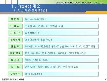 경기도 고양시 일산동 주상복합 건축분양사업계획서 page 4