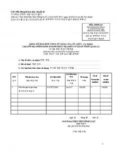 베트남 각종 세금계산서양식 리스트 #12