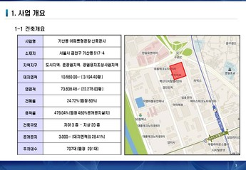 서울금천구 가산동아파트형 공장 사업계획서 page 3