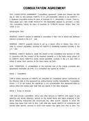 (영문) 자문계약서(Consultation Agreement)