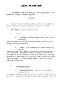 (영문) 표준 컨설팅 계약서(Consulting Agreement)