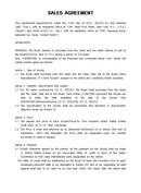 (영문) 매매계약서(Sales Agreement)
