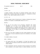 (영문) 기본구매 계약서(Basic Purchase Agreement)