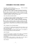 위탁가공 무역계약서(CONSIGNMENT PROCESSING CONTRACT)